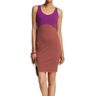 Halston Heritage two-tone bodycon dress