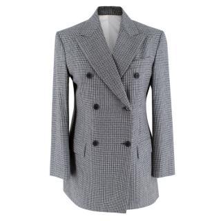 Calvin Klein Grey Checked Wool Blazer