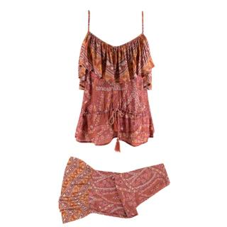 Spell Cotton Pattern Blend top and trouser set