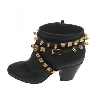 Giuseppe Zanotti black studded ankle boots