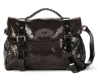 Mulberry Patent Suede Leopard Alexa Bag