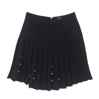 McQ by Alexander McQueen black pleated miniskirt