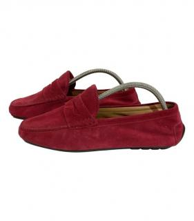 Ralph Lauren red suede moccasin loafers