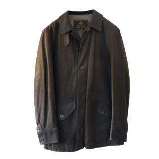 Loro Piana cashmere lined soft brown leather jacket