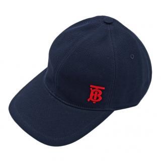 Burberry navy baseball cap