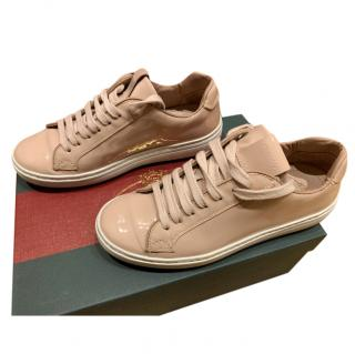 Church�s Beige Patent Sneakers
