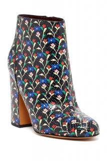 Marc by Marc Jacobs Floral Print Snakeskin Embossed Ankle Boots