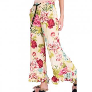 Twin Set Simona Barbieri floral print loose pants