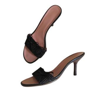 Gucci vintage dark brown heeled sandals
