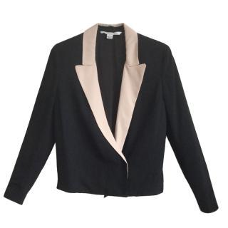 Diane Von Furstenberg Two-Tone Silk Blazer