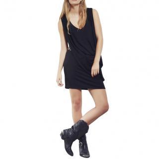 Gestuz Black Draped Mini Dress