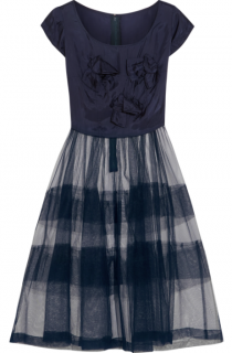 Comme Des Garcons Girl Bow-embellished taffeta and tulle dress