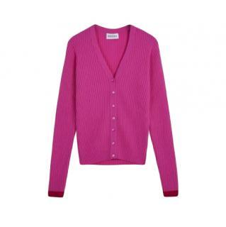 Brora Candy Pink cashmere cardigan