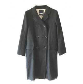MaxMara  Black Double Breasted Coat