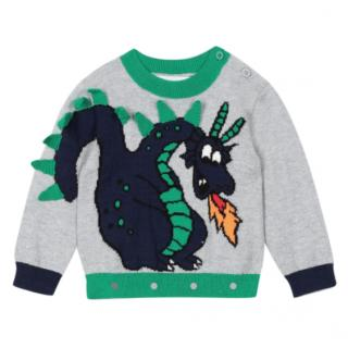 Stella McCartney kid's dragon knit jumper