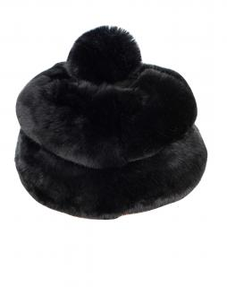 FurbySD Chinchilla Fur Black Hat