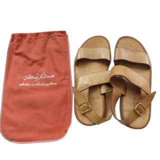 Silvano Lattanzi Handmade Tan Leather Sandals
