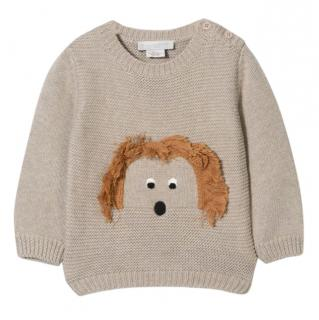 Stella McCartney Kid's Dog Intarsia Knit Jumper