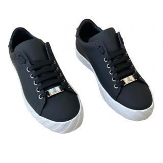 Philipp Plein Men's Low Top Black Leather Sneakers