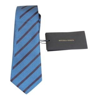 Bottega Veneta Blue Striped Silk Tie