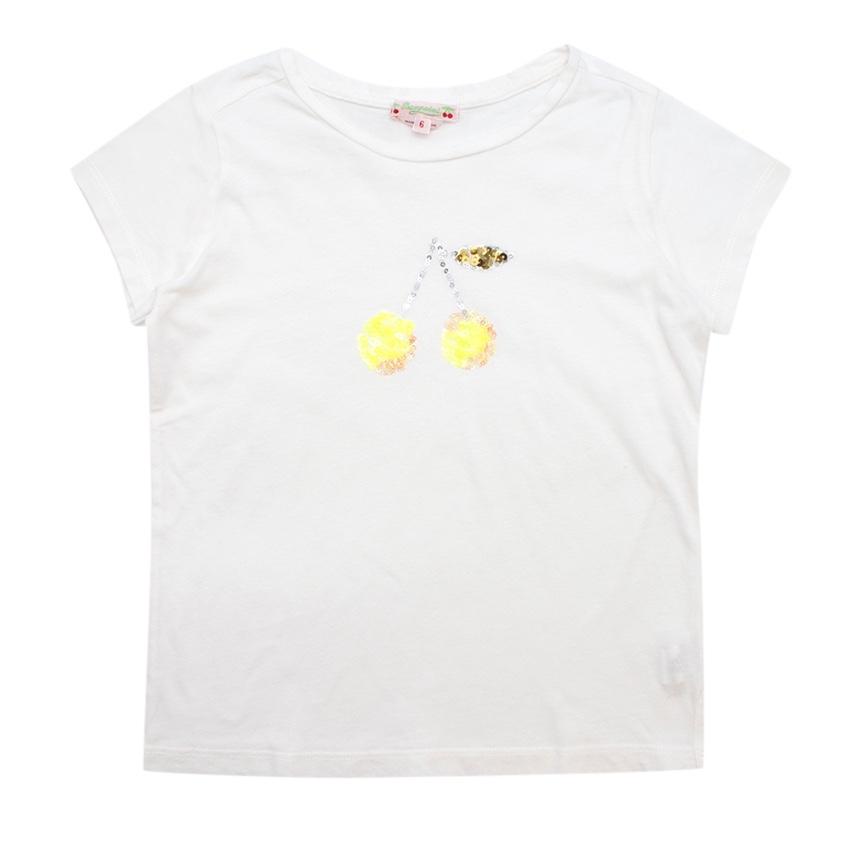 Bonpoint Yellow Cherry Sequin Top