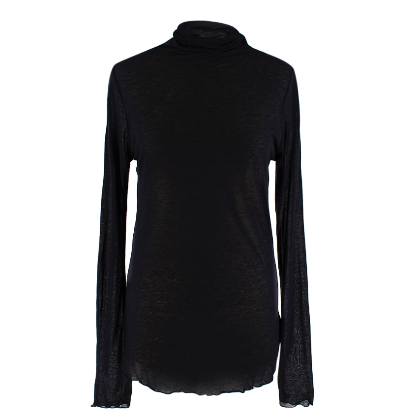 Dua Lipa x Pepe Jeans Black Roll Neck Cashmere Blend Top