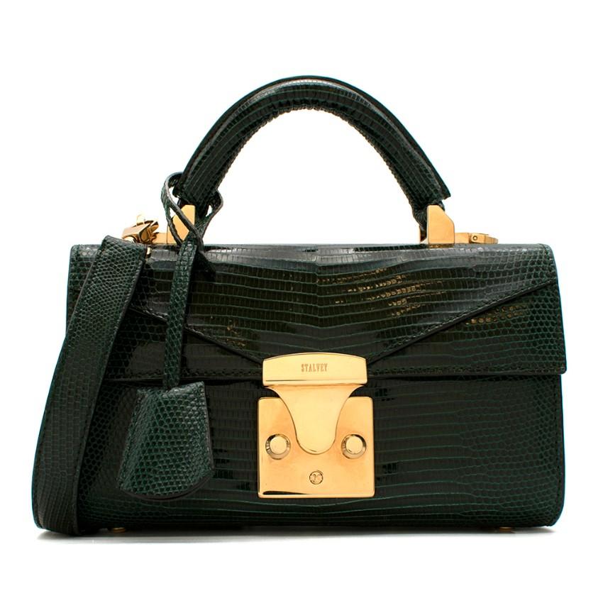 Stalvey Lizard Emerald Green Top Handle 2.0 Mini Bag