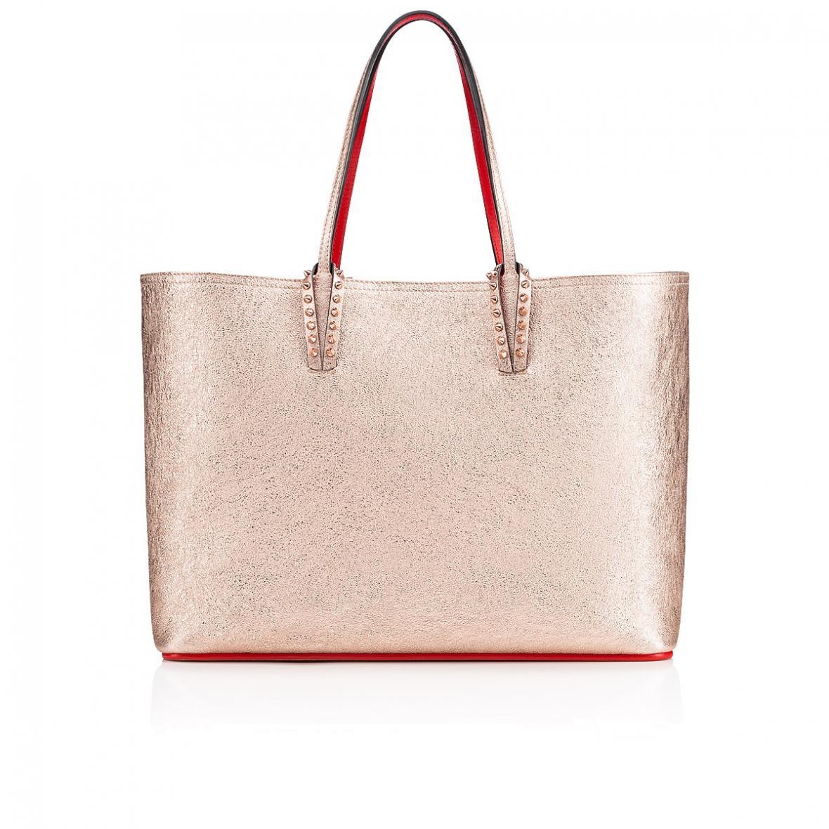 Christian Louboutin rose gold Cabata tote bag