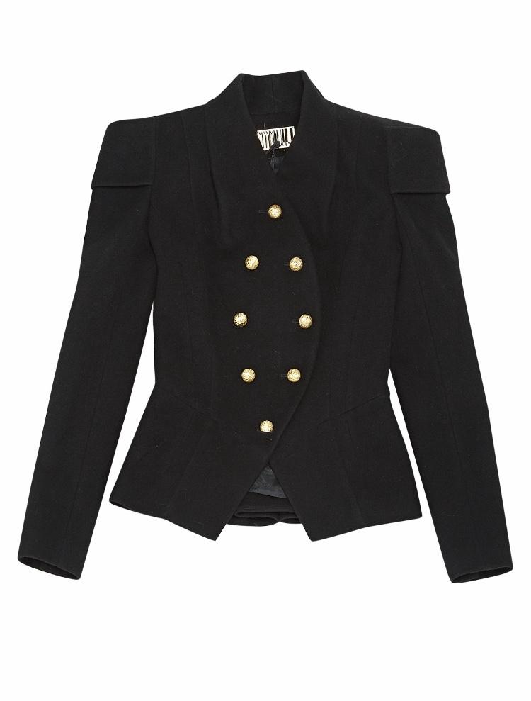 Maxime Simoens Military Black Jacket