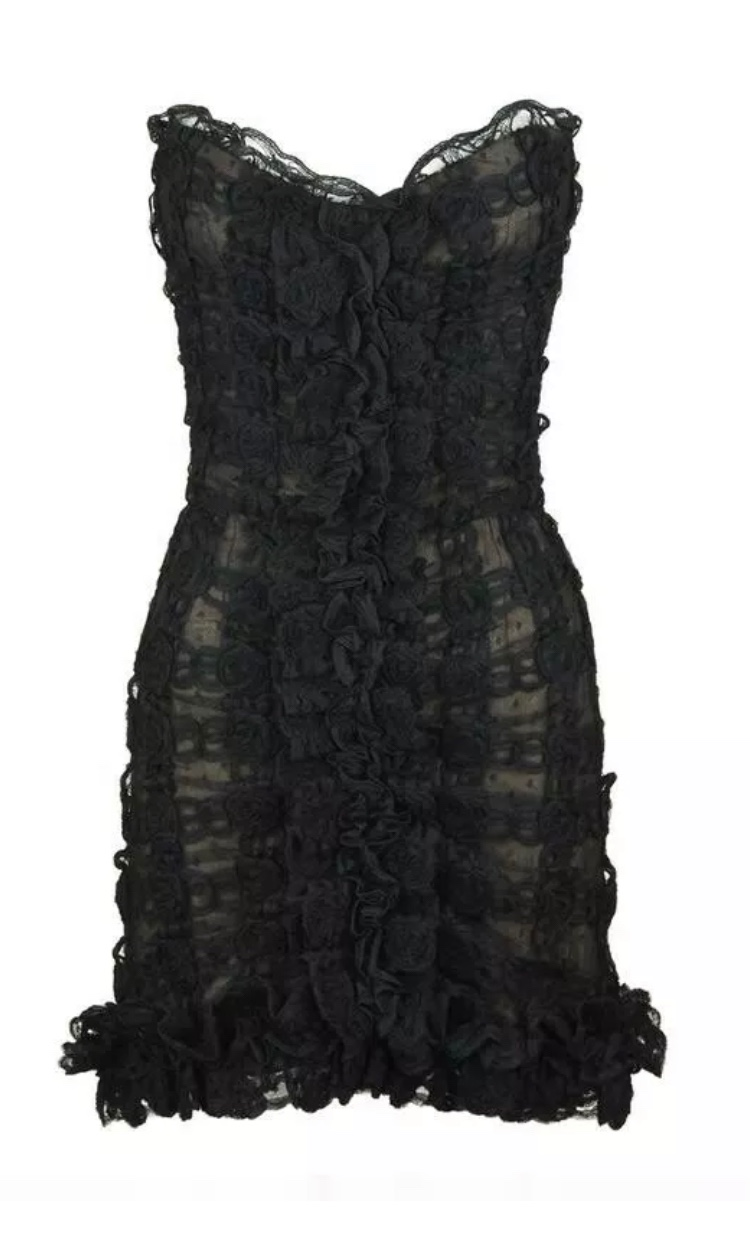Chanel Black Lace Cocktail Dress