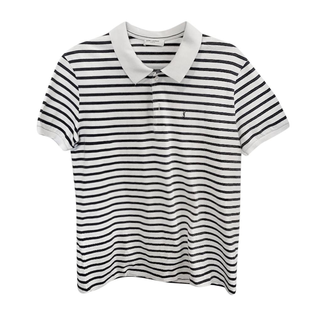 Saint Laurent Striped Men's Polo Shirt