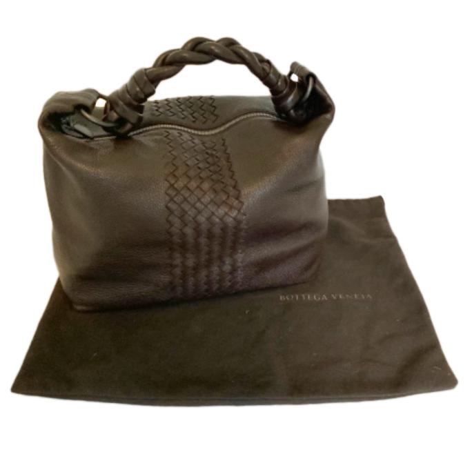 Bottega Veneta Brown Leather Hobo Shoulder Bag