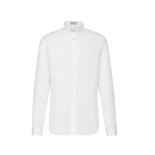 Christian Dior white cotton poplin shirt