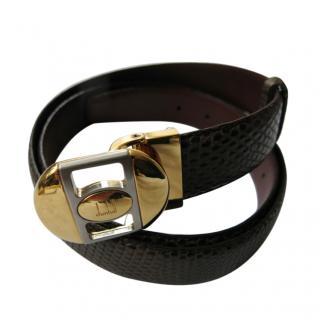Dunhill Brown Lizard Belt