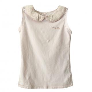 I Pinco Pallino Pale Pink Lurex Collar Stretch Top