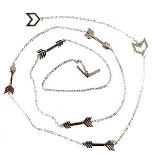Lucy Q Sterling Silver Arrow Long Necklace