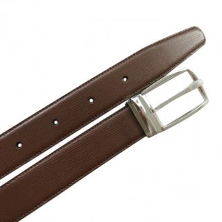 Dupont Brown Leather Belt Kit with Palladium Bucklet