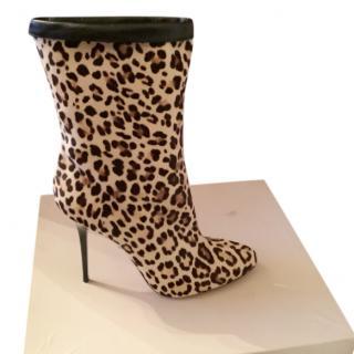 Jimmy Choo leopard print pony-hair boots