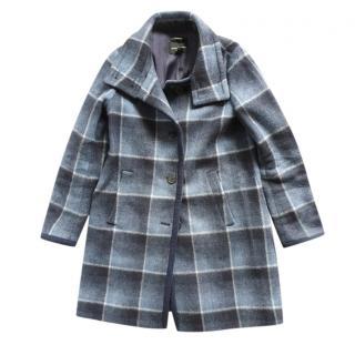 Club Monaco Blue Gray Wool Blend Coat
