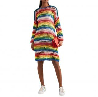 Mira Mikati Rainbow Crochet Beach Dress