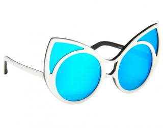 Linda Farrow x Khaleda Rajab+Fahad Al Marzouq Blue Cat-Eye Sunglasses
