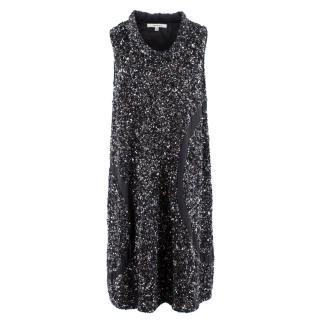 John Rocha Black Sequin & Embellished Dress