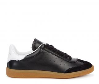 Isabel Marant black leather Bryce trainers