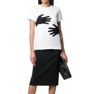 Joseph Black & White Patchwork Hands Top