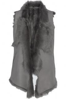 Karl Donoghue grey shearling vest