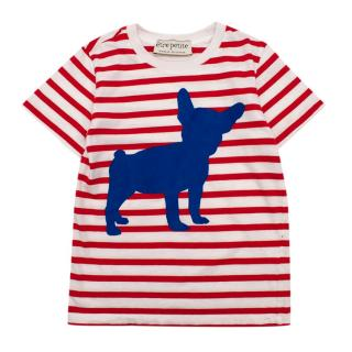 Etre Cecile Etre Petite French Bulldog Striped T-Shirt
