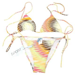 Missoni Multicoloured Zig-Zag Print String Bikini