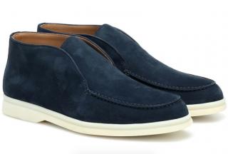 Loro Piana Blue Suede Open Walk Shoes