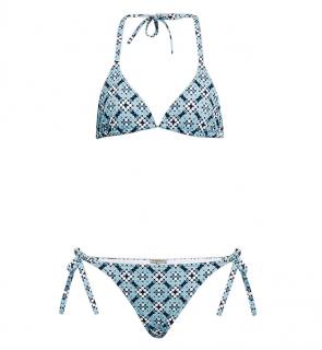 Bottega Veneta blue dot motif bikini