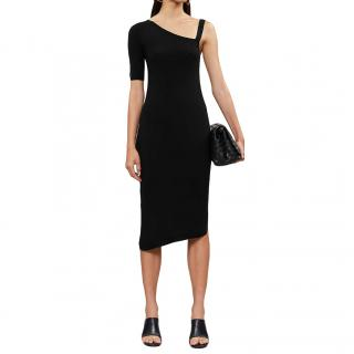 Barrie Asymmetric Cashmere Black Dress